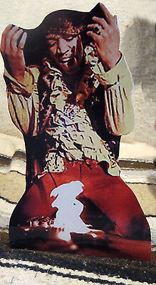 "Jimi Hendrix at 1967 Monterey Pop Festival Tabletop Standee 10"" Tall"