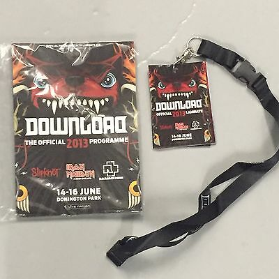 Download 2013 Programme + Lanyard New Sealed Iron Maiden Rammstein