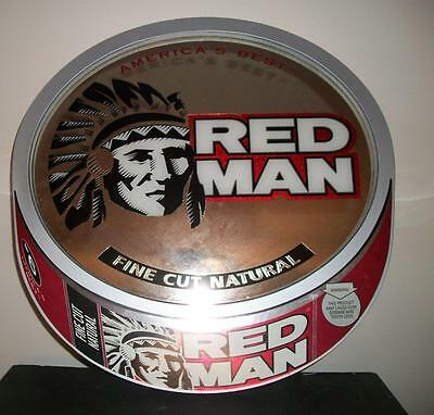 """RED MAN CHEWING TOBACCO ADVERTISING MIRROR - 18 3/4"""" x 18 3/4"""""""