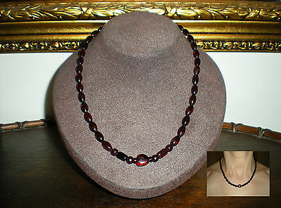 Unique Genuine Natural Black Cherry & Butter Baltic Amber Necklace