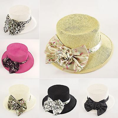 Wholesale Job Lot of 21x Womens Straw Hats with Bows!  Vintage Floral New