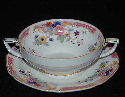 Grindley Fine China Cream Soup Cup & Saucer The Annabelle Pattern