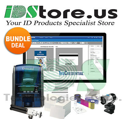 Datacard SD160 Single Side Complete Photo ID Card Printer System