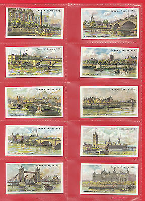 Places  -  Thames  Series  -  Set  Of  25  Cards  -  Taddy  &  Co. -  Reprints