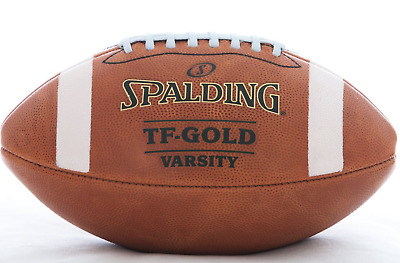 Spalding Leather Football TF Gold Varsity NFHS Full Size, Premium Ball SALE
