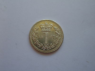 1867 Queen Victoria Maundy Penny - Brilliantly Uncirculated  - Uk Post Free