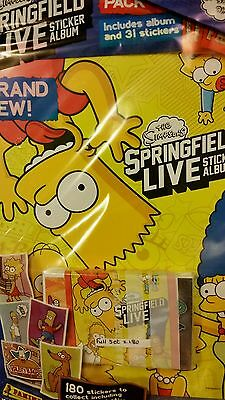 The Simpsons: Springfield Live Full Set Of Stickers X180 + Album