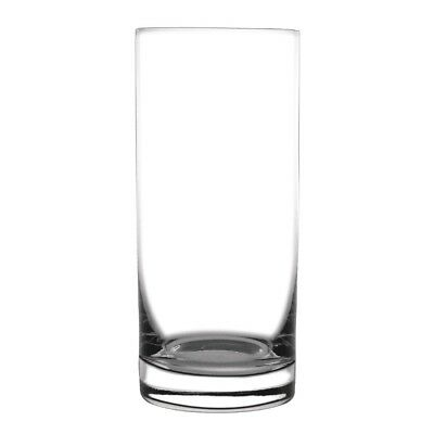 6x Olympia Crystal Hi Ball Glasses 385ml Tumblers Restaurant Bar Tableware