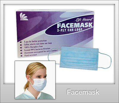 Disposable Dental Medical Surgical Dust Nail Salon Earloop Face Mouth Masks 50pc