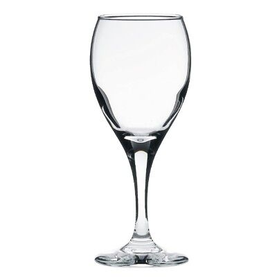 12x Libbey Teardrop White Wine Glasses 250ml Plimsoll lined Cocktail Tumblers
