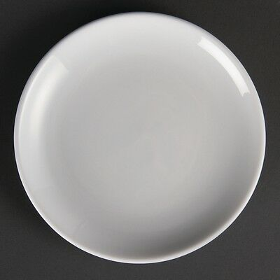 12x Olympia Whiteware Coupe Plates 180mm Serving Service Tableware Restaurant