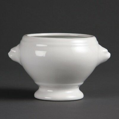 6X Olympia Whiteware Lion Head Soup Bowls 105mm Kitchen Serving Dishes Tableware