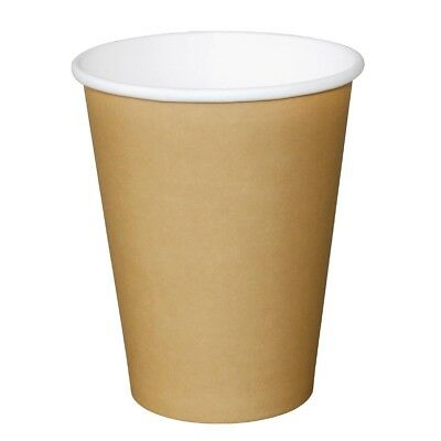 Pack of 50 Fiesta Disposable Brown Hot Cups 450ml Cardboard