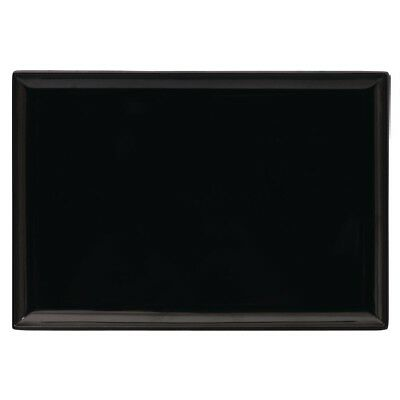 Rectangle Melamine Buffet Platters 240 x 350mm Black Rectangular Serving Kitchen