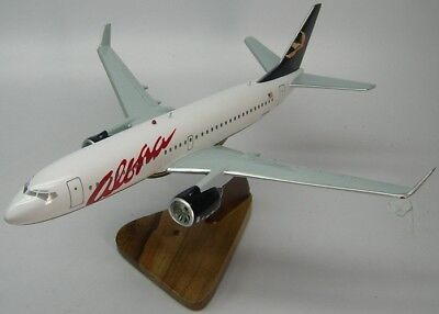 Boeing B-737 Aloha Airlines B737 Airplane Desktop Kiln Dry Wood Model Large New