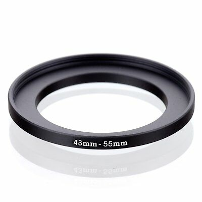 RISE(UK) 43mm-55mm 43-55 mm 43 to 55 Step Up Ring Filter Adapter black