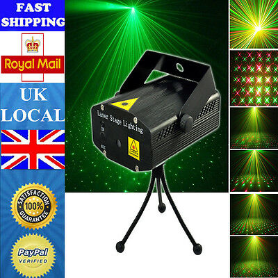 LED R&G Laser Projector Stage Light Lighting Disco DJ Bar Voice-activated Mini