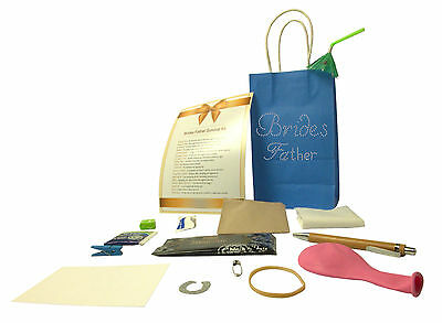 Brides Father Wedding Survival Kit Gift perfect for wedding day+Crysta Gift Bag