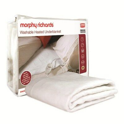 Morphy Richards Double All Night Washable Heating Thermal Electric Bed Blanket