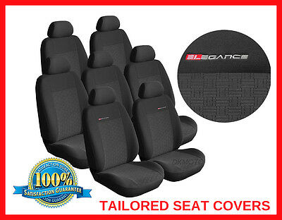 Tailored seat covers for Ford S-Max 2006 - 2015  FULL SET  7 seater grey1