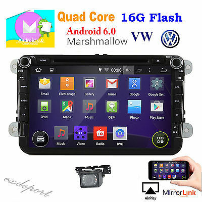 "Android 6.0 GPS 8"" Car Stereo DVD Player For VolksWagen VW MAGOTAN AMAROK BEETLE"