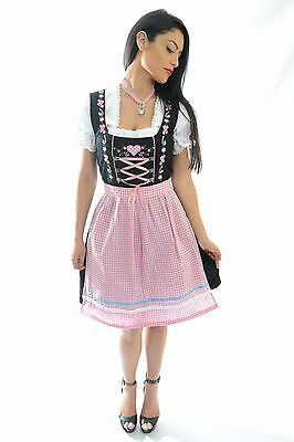 "DIRNDL Trachten German Oktoberfest Bavarian DRESS 3-Piece Tracht ""PINK HEART"""