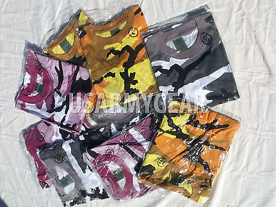 Huge lot of 94 pcs. Kid's Camouflge Tee T-shirt Military Camo Army Short Sleeve