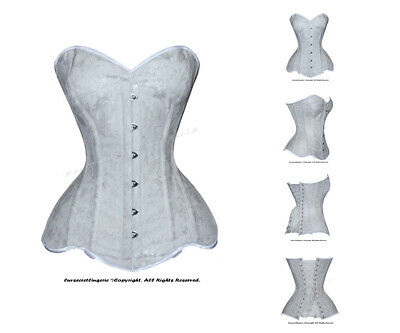 Heavy Duty 26 Double Steel Boned Waist Training Brocade Overbust Corset #8460-F