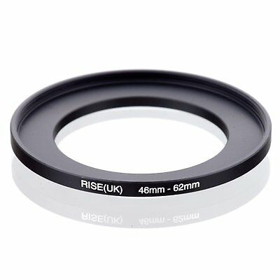 RISE(UK) 46mm-62mm 46-62 mm 46 to 62 Step Up Ring Filter Adapter black