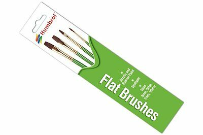 HUMBROL AG4302 4 Pinceaux Plats - Flat Brush Pack - Size 3/5/7/10
