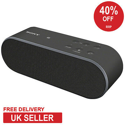 Sony SRS-X2 Black Portable 20W Rechargeable Bluetooth Wireless Speaker with NFC