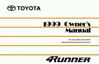 1999 toyota 4runner owners manual user guide reference operator book rh picclick com 1998 Toyota 4Runner Manual Shift 1998 toyota 4runner sr5 owners manual