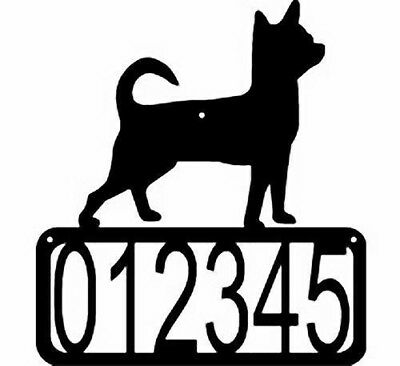 Chihuahua Dog CUSTOM Personalized ADDRESS House Number Sign Made USA