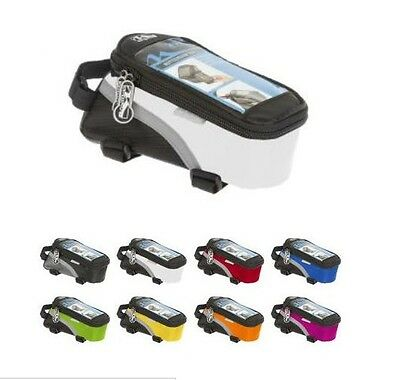 M Wave Bike Bicycle Top Tube Frame Bag & Phone Case - 8 COLOURS - RRP£25