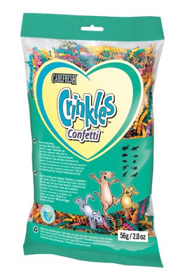 6 PAQUETS CRINKLES CONFETTI  NIDIFICATION HAMSTER LAPIN 56G LITIÈRE multicolore