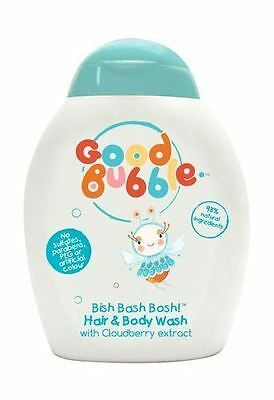 2 Packs of G/Bubble  Cloudberry Extract Hair & Body Wash 250ml