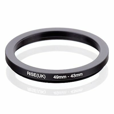 RISE(UK) 49mm-43mm 49-43 mm 49 to 43 Step down Ring Filter Adapter black