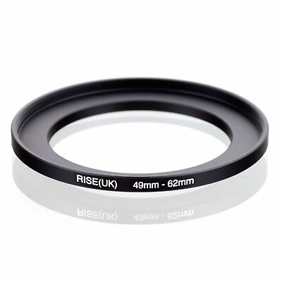 RISE(UK) 49mm-62mm 49-62 mm 49 to 62 Step Up Ring Filter Adapter black