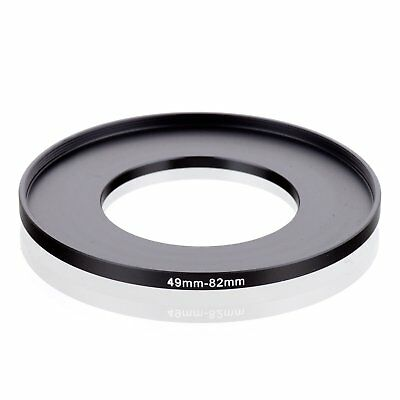 RISE(UK) 49mm-82mm 49-82 mm 49 to 82 Step Up Ring Filter Adapter black