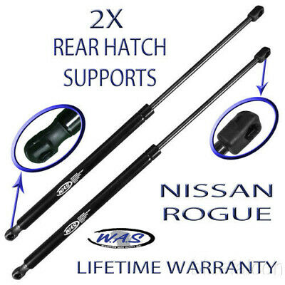 2 Two New Rear Hatch Door Liftgate Lift Supports Shock Arm Rod For Nissan Rogue
