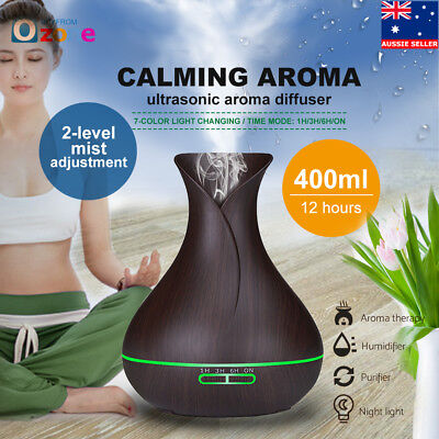 1.3L Steam Aroma Ultrasonic Air Humidifier Diffuser Purifier Mist Color Changing