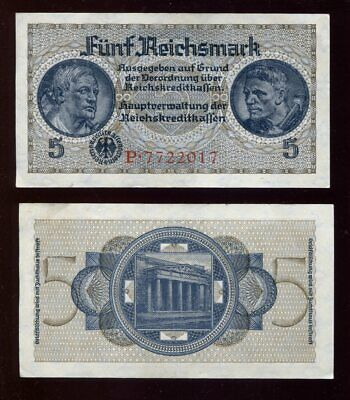 Banknote 5 Reichsmark (1939) Ro.553 (II)