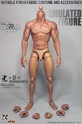 Zc Toys Model Toys 1/6 Scale 12inch Nude Muscular Figure Body with Seamless Arms
