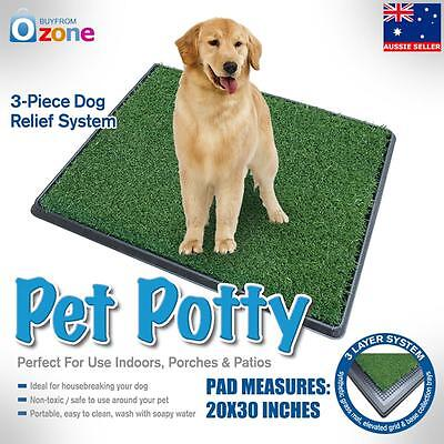 Indoor Dog Pet Training Toilet Puppy Potty Tray Loo Pad Mat Large Grass Mat