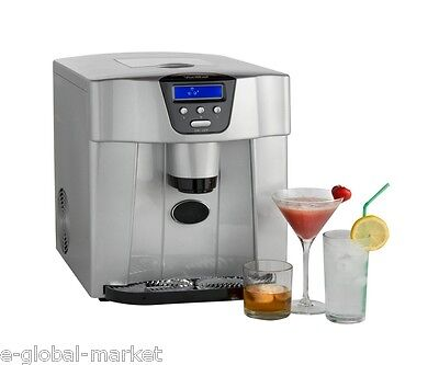 Ice Maker Dispenser Machine LCD Display Digital Counter Top Cold Drink DripTray