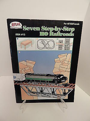 Atlas #13 Seven Step-By-Step HO Railroads Softcover NEW