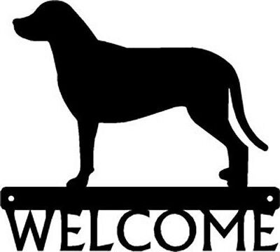 "Dog Silhouette Metal Art Welcome Sign Wall Plaque 12"" - Greater Swiss Mountain"