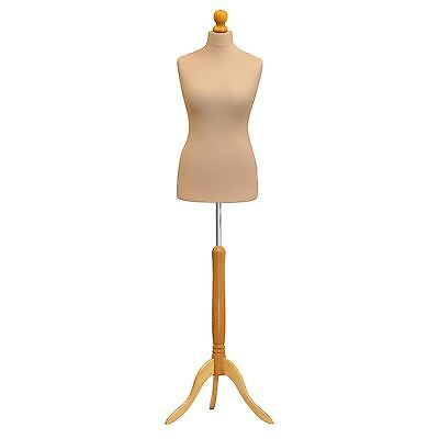 Female Tailor Dummy Mannequin Size 12/14 Cream Retail Shop Clothes Display Bust