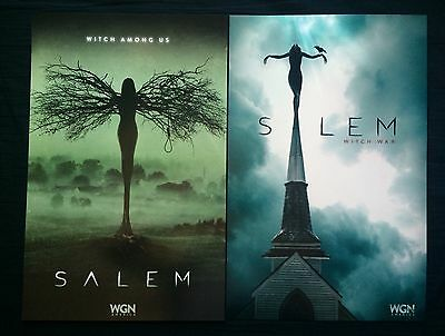 2014/2015 Set Of 2 Comic Con Exclusive Wgn Salem Witches War Posters -Seth Gabel