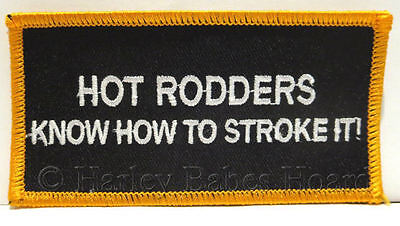Embroidered Iron Sew On Patch For Muscle Car Enthusiasts ~ Hot Rodders Know...~